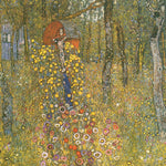 Gustav Klimt A Flower Garden - Hand Painted Oil Painting