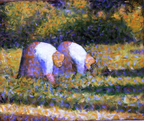Georges Seurat Farm Women at Work - Hand Painted Oil Painting