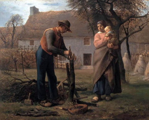 Jean-Francois Millet Farmer Inserting a Graft on a Tree - Hand Painted Oil Painting