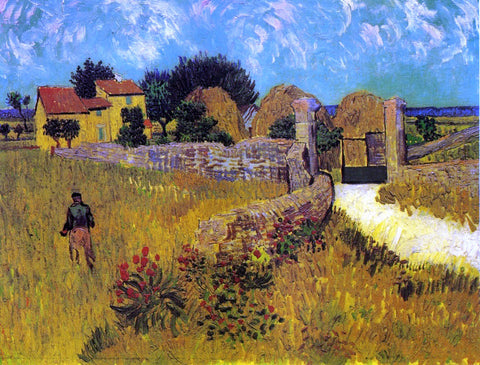 Vincent Van Gogh A Farmhouse in Provence - Hand Painted Oil Painting