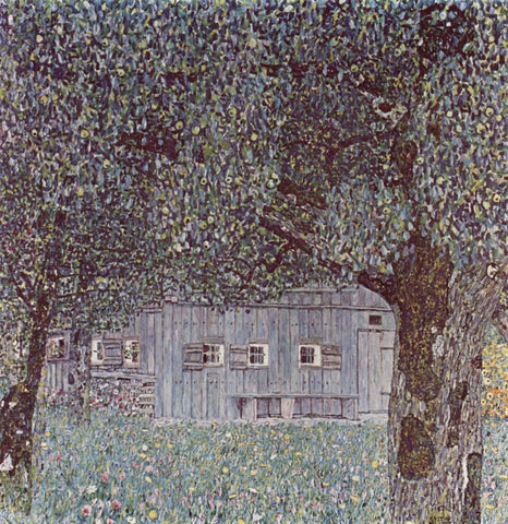 Gustav Klimt Farmhouse in Upper Austria - Hand Painted Oil Painting
