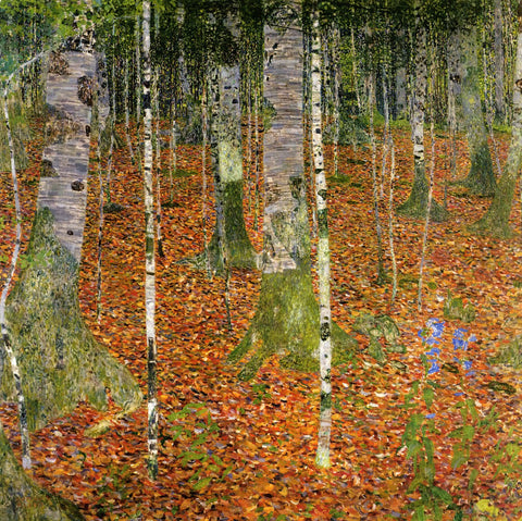 Gustav Klimt Farmhouse with Birch Trees - Hand Painted Oil Painting