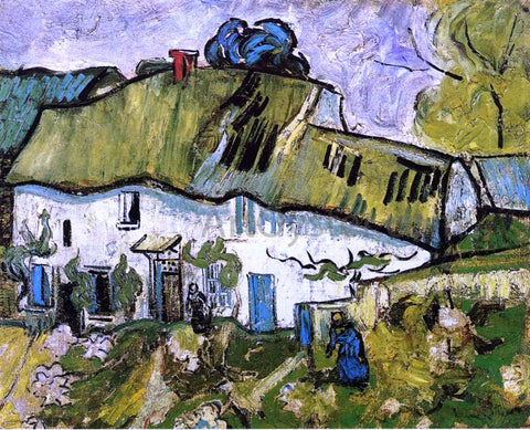 Vincent Van Gogh Farmhouse with Two Figures - Hand Painted Oil Painting