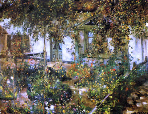 Lovis Corinth Farmyard in Bloom - Hand Painted Oil Painting