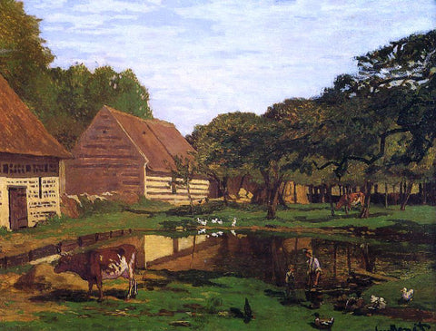 Claude Oscar Monet Farmyard in Normandy - Hand Painted Oil Painting
