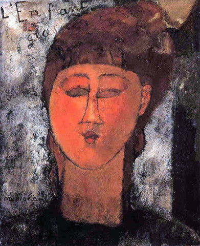 Amedeo Modigliani Fat Child - Hand Painted Oil Painting