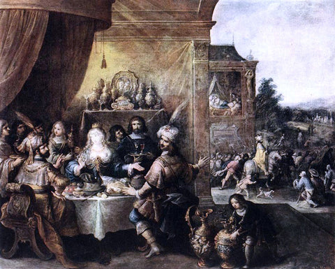 The Younger Frans Francken Feast of Esther - Hand Painted Oil Painting