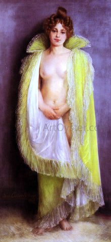 Pierre Carrier-Belleuse Femme En Deshabillee Verte - Hand Painted Oil Painting