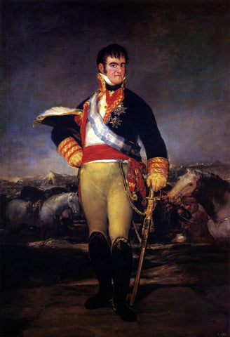 Francisco Jose de Goya Y Lucientes Fernando VII in an Encampment - Hand Painted Oil Painting