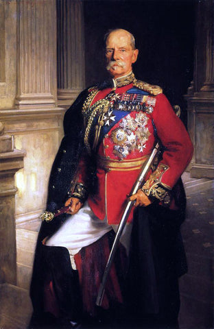 John Singer Sargent Field Marshal Earl Roberts, K.G., V. C. - Hand Painted Oil Painting