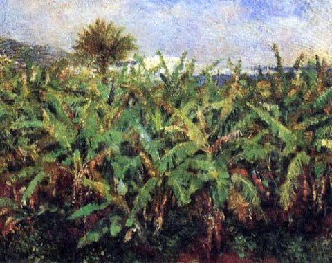Pierre Auguste Renoir Field of Banana Trees - Hand Painted Oil Painting