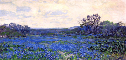 Julian Onderdonk Field of Bluebonnets - Hand Painted Oil Painting