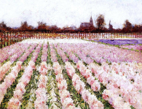 George Hitchcock Field of Flowers - Hand Painted Oil Painting