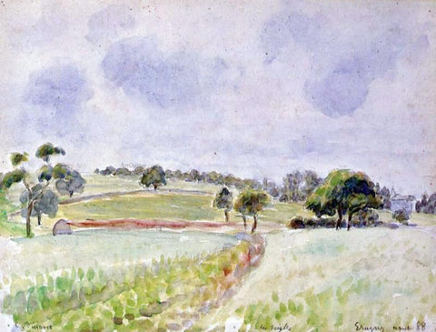 Camille Pissarro Field of Rye - Hand Painted Oil Painting