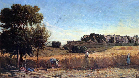 Paul-Camille Guigou Field of Wheat - Hand Painted Oil Painting