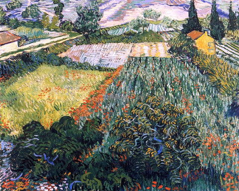 Vincent Van Gogh A Field with Poppies - Hand Painted Oil Painting