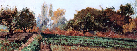 Paul-Camille Guigou Fields and Trees, Autumn Study - Hand Painted Oil Painting
