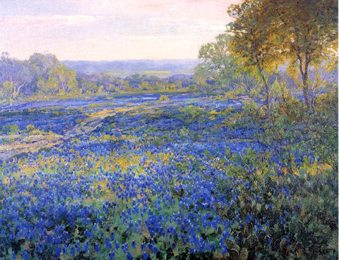 Julian Onderdonk Fields of Bluebonnets - Hand Painted Oil Painting