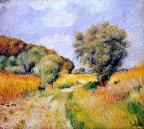 Pierre Auguste Renoir Fields of Wheat - Hand Painted Oil Painting