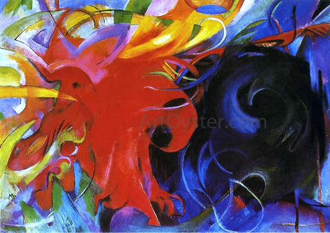 Franz Marc Fighting Forms - Hand Painted Oil Painting