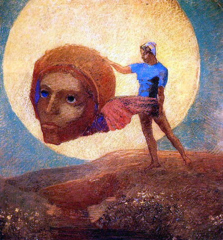 Odilon Redon Figure - Hand Painted Oil Painting