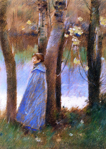 Theodore Robinson Figure in a Landscape - Hand Painted Oil Painting