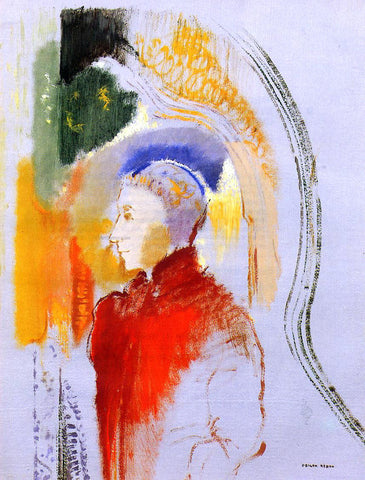 Odilon Redon Figure in Profile - Hand Painted Oil Painting
