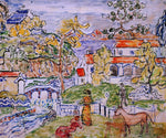 Maurice Prendergast Figures and Donkeys (also known as Fantasy with Horse) - Hand Painted Oil Painting