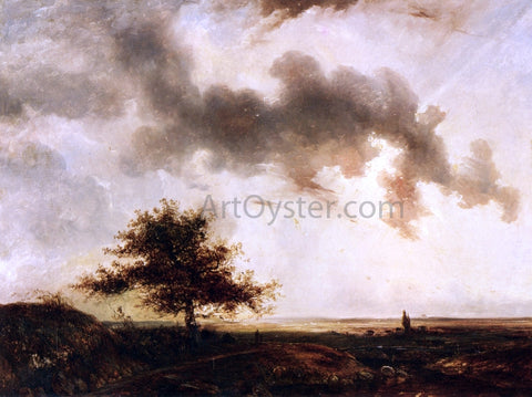 Theodore Rousseau Figures in a Landscape - Hand Painted Oil Painting