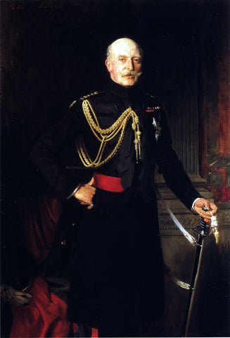 John Singer Sargent Field Marshall H.R.H. the Duke of Connaught and Strathearn - Hand Painted Oil Painting