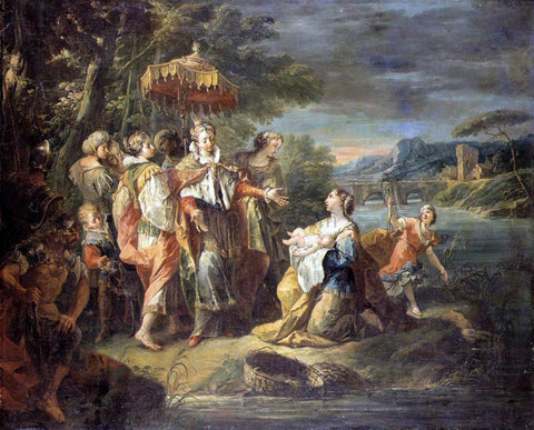 Gaspare Diziani Finding of Moses - Hand Painted Oil Painting