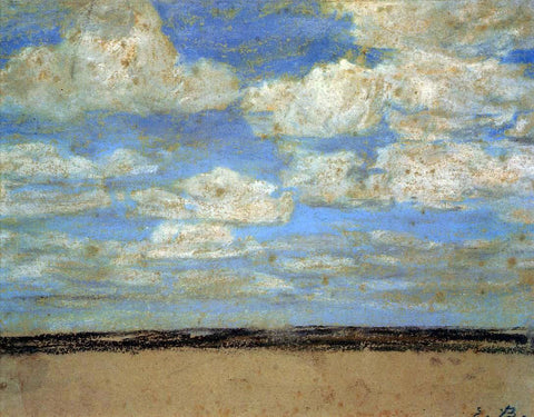 Eugene-Louis Boudin Fine Weather on the Estuary - Hand Painted Oil Painting