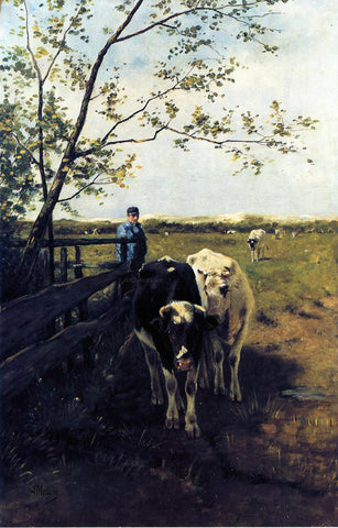 Anton Mauve Finished Grazing - Hand Painted Oil Painting