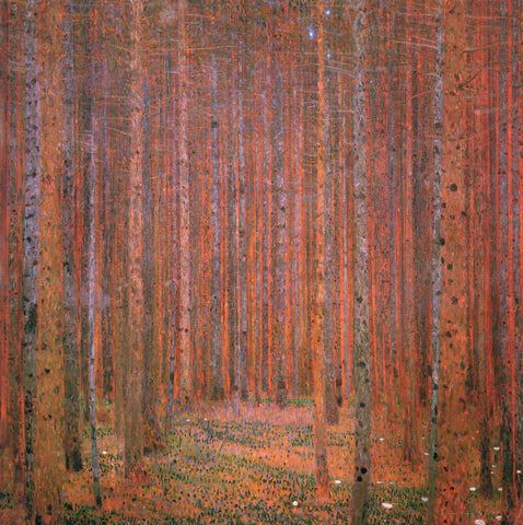Gustav Klimt Fir Forest I - Hand Painted Oil Painting