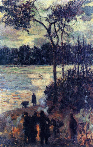 Paul Gauguin Fire by the Water - Hand Painted Oil Painting