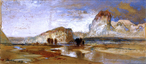 Thomas Moran First Sketch Made in the West at Green River, Wyoming - Hand Painted Oil Painting