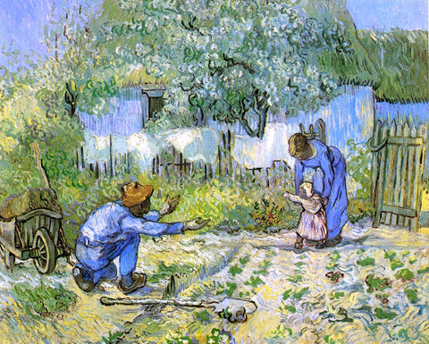 Vincent Van Gogh First Steps (after Millet) - Hand Painted Oil Painting
