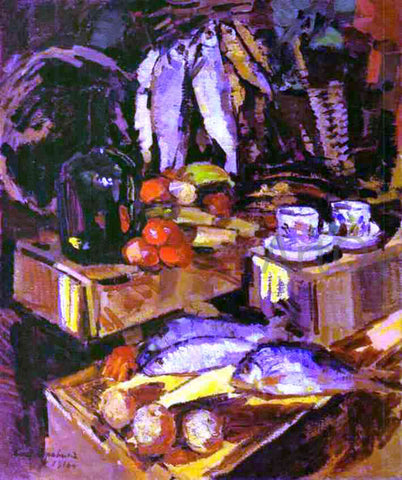 Constantin Alexeevich Korovin Fish - Hand Painted Oil Painting