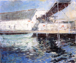 John Twachtman Fish Sheds, Gloucester, Massachusetts - Hand Painted Oil Painting