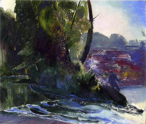 George Wesley Bellows Fisherman and Stream - Hand Painted Oil Painting