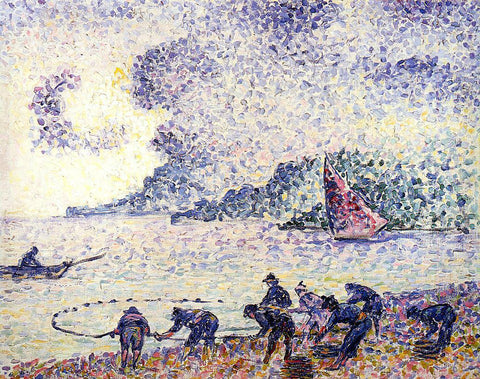 Henri Edmond Cross Fisherman - Hand Painted Oil Painting