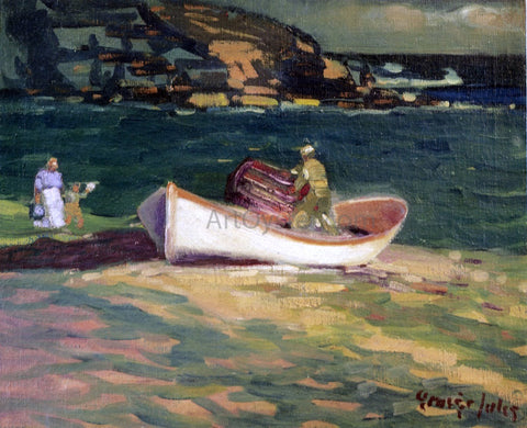 George Luks A Fisherman, Cape Elizabeth, Maine - Hand Painted Oil Painting