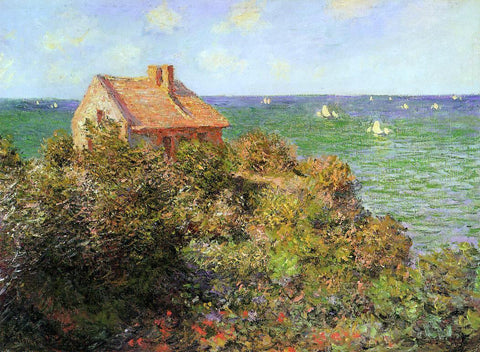 Claude Oscar Monet A Fisherman's Cottage at Varengeville - Hand Painted Oil Painting