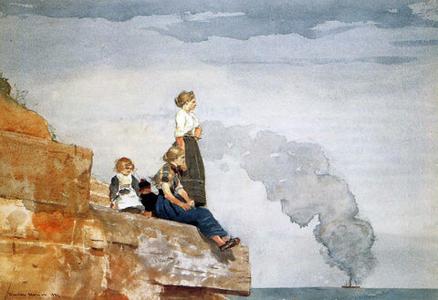 Winslow Homer Fisherman's Family (also known as The Lookout) - Hand Painted Oil Painting