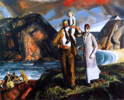 George Wesley Bellows Fisherman's Family - Hand Painted Oil Painting