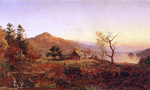Jasper Francis Cropsey Fisherman's Hut, Greenwood Lake - Hand Painted Oil Painting