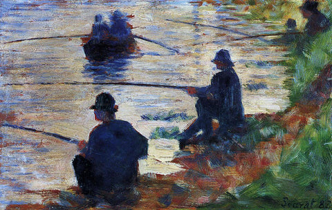 Georges Seurat Fishermen - Hand Painted Oil Painting