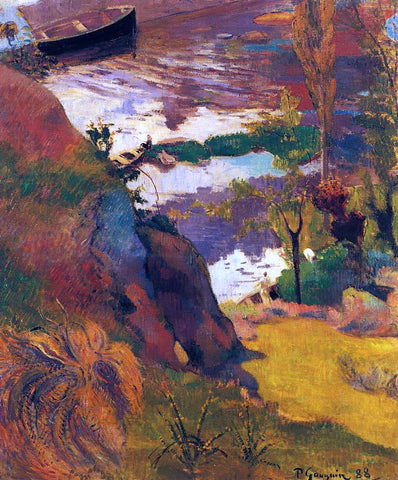 Paul Gauguin Fishermen and Bathers on the Aven - Hand Painted Oil Painting