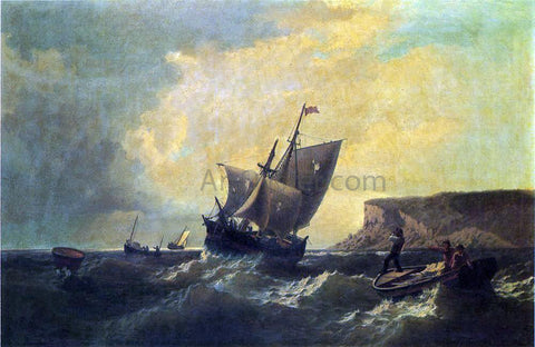 William Bradford Fishermen in an Approaching Storm - Hand Painted Oil Painting