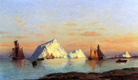 William Bradford Fishermen off the Coast of Labrador - Hand Painted Oil Painting